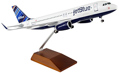 Daron Worldwide Trading Skymarks Jetblue A320 Barcode 1 100 W Wood Stand   Airplane Model