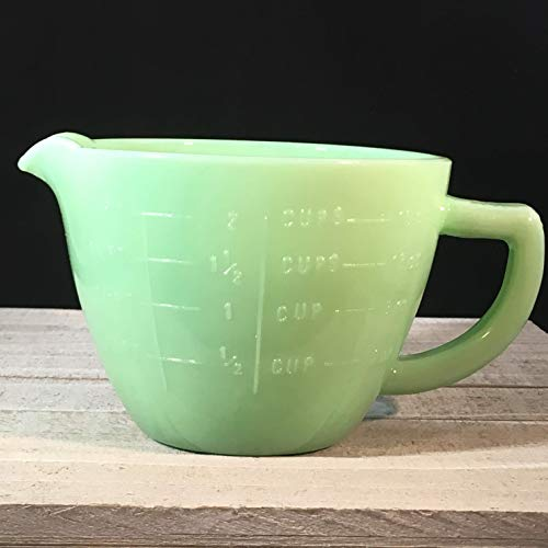 Jadeite Green Glass Kitchen MEASURING CUP 2 Cups, 1 Pint, 16 Ounces ()