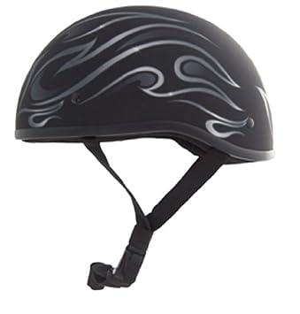 Zox Nano Old School Flame Graphic Open Face - Casco de moto (talla XXL)