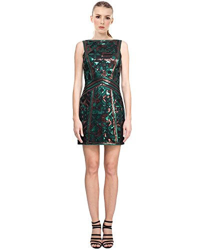 Tadashi Shoji Avery Sequin Sleeveless Sheath Cocktail Evening Dress