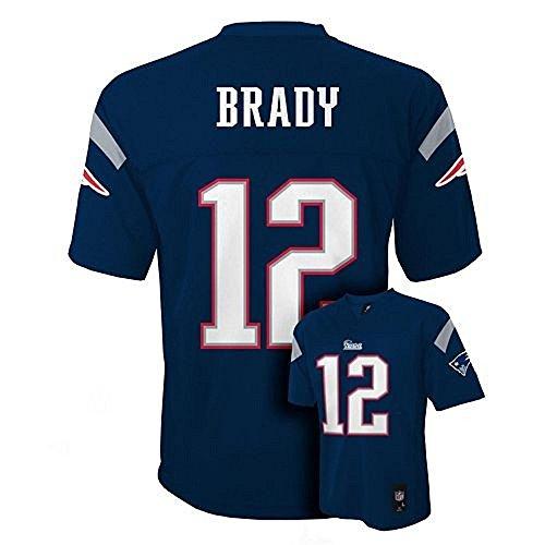 Tom Brady New England Patriots Navy NFL Kids 2013-14 Season Mid-tier Jersey (Kids 5/6/Medium)