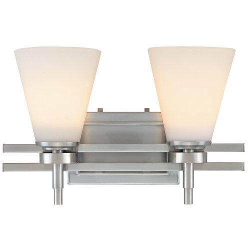 good Design House 506824 Millbridge 2 Light Vanity Light, White