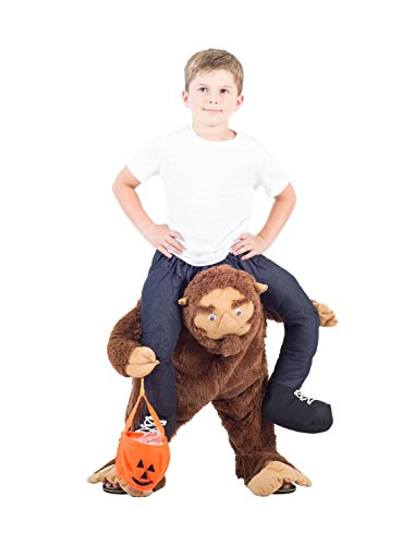 Costume Agent Men's Piggyback SASQUATCH Ride-On Costume, Sasquatch, Youth (Funny Kids Halloween Costumes)