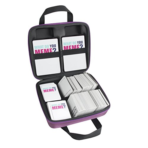 Hermitshell Hard Case fits What Do You Meme Party Game (for Basic and All Expansion Packs) (Purple)