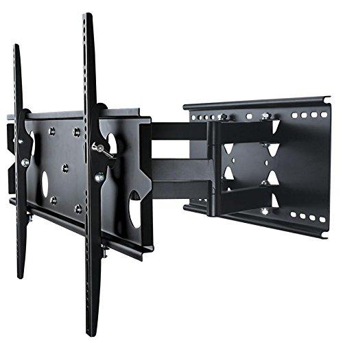 TradeMount Monitor Wandhalterung Doppelarm ausziehbar von 7,3cm bis 43cm schwenkbar, 12° neigbar für Sony 55