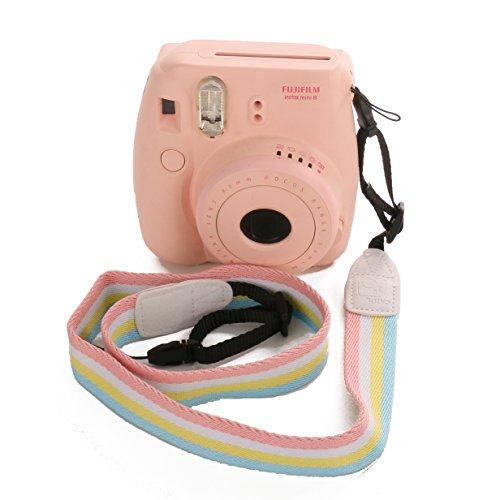 Frame Mount Shoulder Bag ([Fujifilm Instax Universal Camera Strap] — Woodmin Adjustable Shoulder Belt for Fuji Instant Mini Camera, Polaroid Camera, Digital Camera, Nikon Camera, Cannon Camera, Samsung Camera(Rainbow))