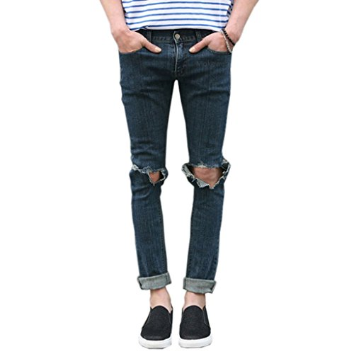 Mokewen-Mens-Knee-Hole-Destroyed-Broken-Skinny-Jeans