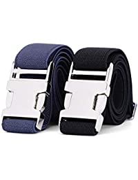 Kids Toddler Belt Adjustable Stretch Belt for Boys and Girls Zinc Alloy Easy Clasp Buckle Belt By WERFORU