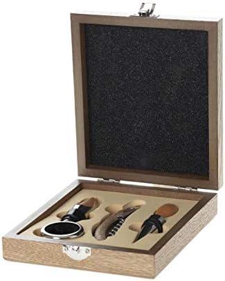 Vita Perfeta - Estuche con somelier con 4 accesorios – Sacacorchos, tapón, tapón vertedor y anillo (17 x 15 cm)