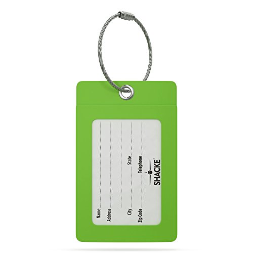 Luggage Tag Initial – Fully Bendable Tag w/ Stainless Steel Loop (Letter R)