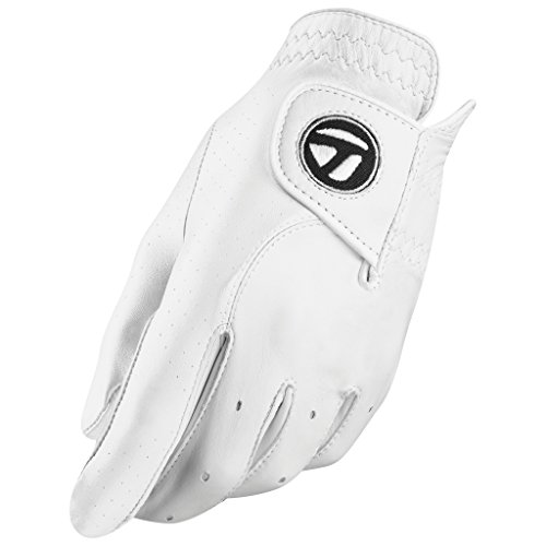 (TaylorMade Tour Preferred Glove (White, Left Hand, Medium/Large), White(Medium/Large, Worn on Left Hand))
