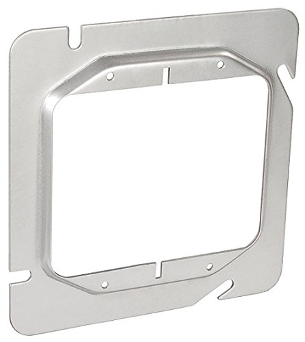 4-11/16 Inch Square Two Gang 1/4 Inch Raised Device Ring-10 per case