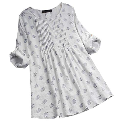 Bouton Chemise Sweatshirt XL Boutons Manches XXL Dames Blanc Pull blanc Black Chemisier Pois lache L XXXXL XXXXXL XXXL S Women Femmes Longues M Polo Marine Challeng Femmes Dessus 86BzwP8q