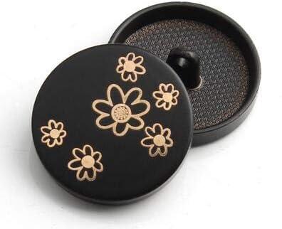 Hydz Botones de caña de Metal Negro clásico de Moda Botón de Oro Redondo Decorativo para Camisa Abrigo Traje de Hombre Accesorios de Costura DIY 6 Piezas, D, 27 MM: Amazon.es: Hogar