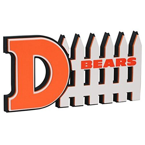 NFL Chicago Bears 3D Foam D-Fence Sign, - Chicago In Loop Shopping