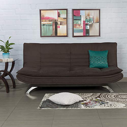 Home Centre Faith Fabric Three Seater Sofabed Mocha  Brown