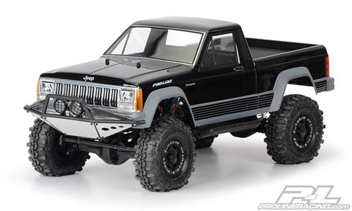 Pro-Line Racing 336200 Jeep Comanche Full Bed Clear Body for 12.3, - Rock 10 Body Crawler