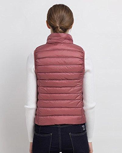 Giacche Cappotto Per Donna Ultra Leggero Maglia Maniche Parka Piumino Senza Invernale Pink Della Zipper Del 484Sqr