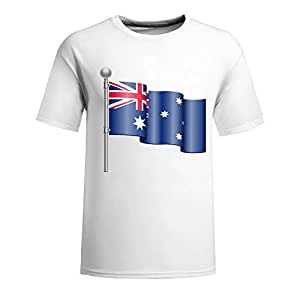 Custom Mens Cotton Short Sleeve Round Neck T-shirt, Printed with World Cup Images white