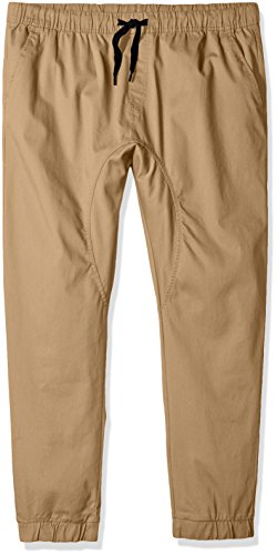 Southpole Men's Big and Tall Basic Stretch Twill Jogger Pants, Deep Khaki, 4XB