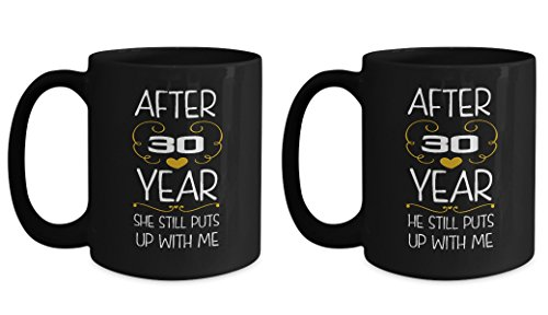 30th Wedding Anniversary Gifts Set After 30 years funny marriage mug Best Engagement Valentine's Day Gifts for couples women wife husband her him (30 Years Marriage Gift)