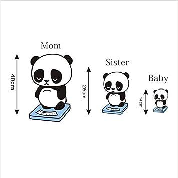 Stickers Muraux Salon Dessin Animé Kawai Panda Couleur Pour