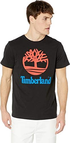 Timberland Men's Logo Short Sleeve Tee Black Tree X-Large