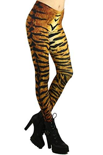 World of Leggings Tiger Print Leggings, One - Sexy Print Leg Animal