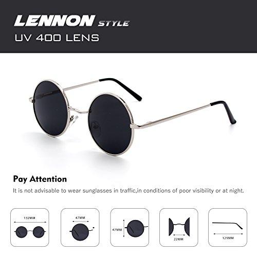 e1b842c3a9 Venta caliente 2018 CGID E01 Pequeño Estilo Vintage Retro Lennon inspirado  círculo metálico redondo gafas de