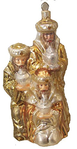 Wisemen Glass Ornaments - Christmas Tree Ornament 3 Wisemen Glass Blown