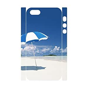 D-PAFD Cell phone Protection Cover 3D Case Island Beach For Iphone 5,5S