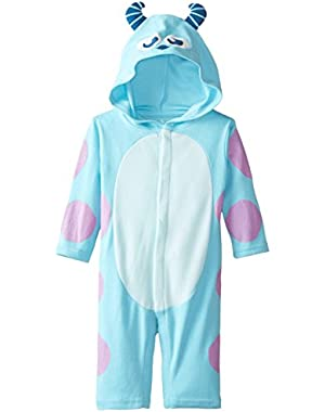 Disney Baby-Boys Newborn Long Sleeve Sully Hooded Coverall
