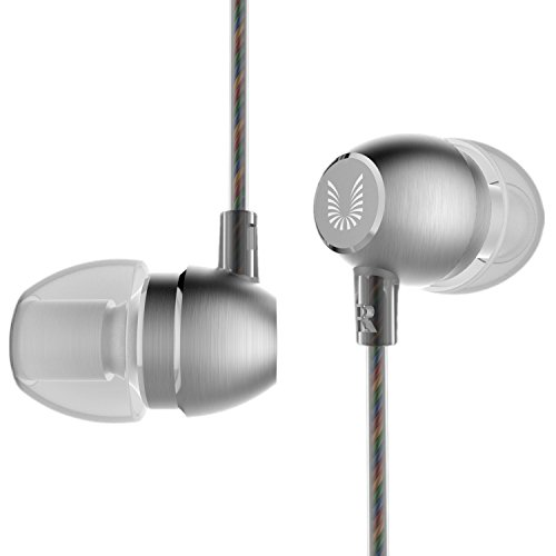 UiiSii HM7 Metal Headphones with Microphone Stereo Earbuds Bass Earphones Headset for Apple iOS and Android...