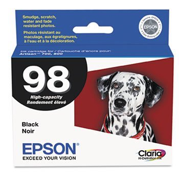 T098120 (99) Claria High-Yield Ink, 450 Page-Yield, Black by EPSON (Catalog Category: Computer/Supplies & Data Storage / Printer Supplies/Accessories)
