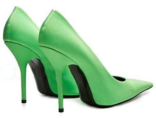Signore Tacchi Scarpe Pompe A Verde Donne Ccbubble Spillo Con U0Znx01vq