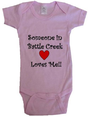 someone-in-battle-creek-loves-me-battle-creek-baby-city-series-pink-baby-one-piece-bodysuit-size-new