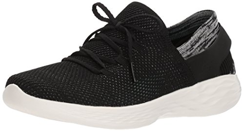Skechers Damen You-spirit Slip On Sneaker, Marineblau Schwarz (bkw Nero / Bianco)