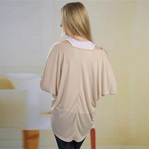 Maniche Bluse Monocromo Grazioso Camicia Felpe Primaverile Sweatshirts Beige Taglie Shirts Elegante Autunno Lunghe Rotondo Donna A Forti Collo Casual Stlie Top Baggy Tops wU8qxUC6F