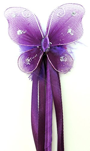 Girls Fairy Princess Butterfly Dress-up Wand Halloween Ideas(purple) (Halloween Dress Up Ideas For Babies)