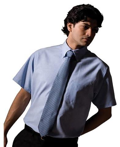Edwards Men's Short Sleeve Oxford Shirt, BLUE, 3XLarge - Edwards Button Down Oxford Shirt