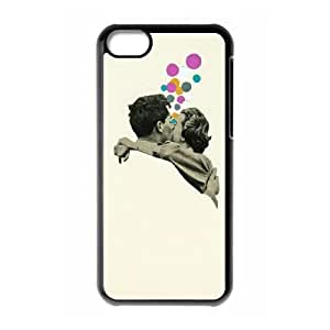 iPhone 5c Cell Phone Case Black First Kiss Aftne