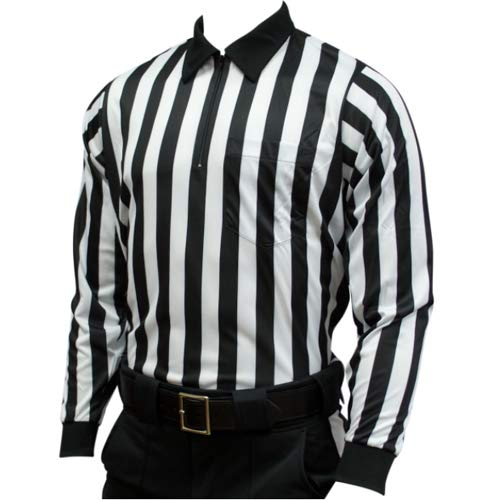 Smitty | FBS-113 | Heavy Fabric Cold Weather Referee Officials Long Sleeve Shirt Football Lacrosse (Large)