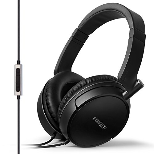 Edifier P841 Comfortable Noise Isolating Over-Ear Headphones with Microphone and Volume Controls - ()
