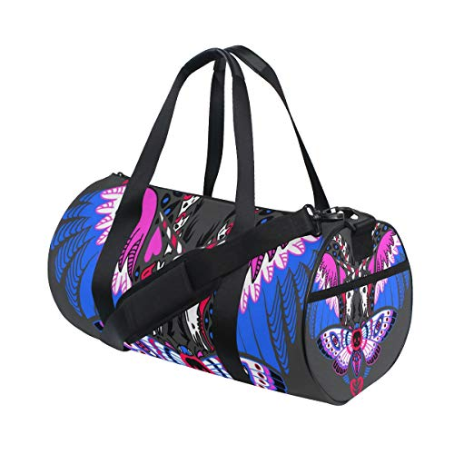 ALLMILL Lightweight Duffle bag Halloween Style Valentines Day Greeting Card Gym bags Oversize Sports bags weekend Overnight Travel handbag for men women student