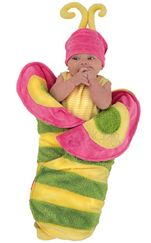 Princess Paradise Baby Swaddle Wings Drooly Drac Deluxe Costume, Butterfly Caterpillar, 0 to 3