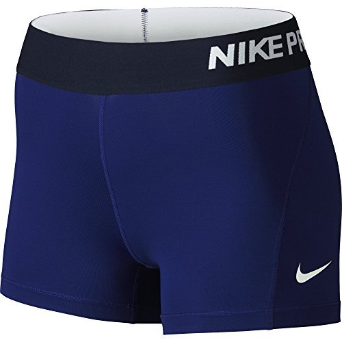 Messenger Nike - Nike Women's Pro Cool 3-Inch Training Shorts (Deep Royal Blue/White/Small)