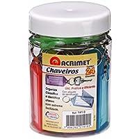 Acrimet 141-0, Chaveiro com Etiquetas, Multicolor, Pacote de 24