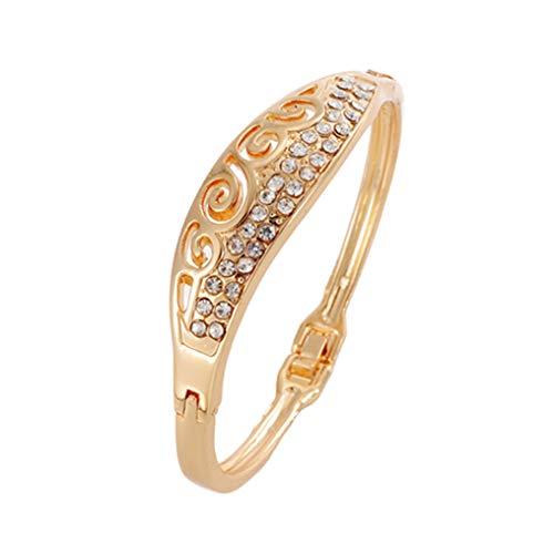 Pulseras Fashion Gold Color Crystal Cuff Bracelets &Bangles for Women SL287 ()