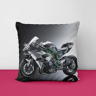 41brqPyyn7L. SS320 Bike Kawasaki Square Design Printed Cushion Cover