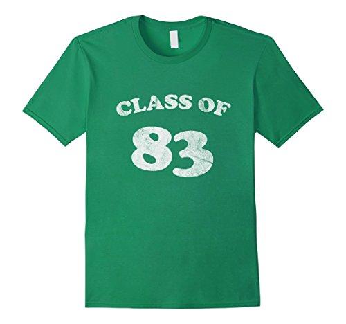 Mens Class Of 83 Retro Vintage Eighties 80s Shirt 3XL Kelly - Classes Retro
